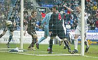 Photo: Aidan Ellis.<br /> Bolton Wanderers v Sunderland. The Barclays Premiership. 18/03/2006.<br /> Bolton's Kevin Nolan celebrates as Kevin Davis header hits the back of the net