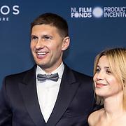 NLD/Amsterdam/20191028 - Koninklijk bezoek Premiere Galapagos, Victoria Koblenko en Evgeniy Levchenko