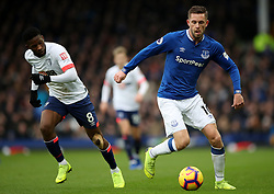 Bournemouth's Jefferson Lerma (left) and Everton's Gylfi Sigurdsson battle for the ball