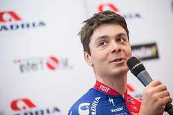 Jure Golcer during press conference of KK Adria Mobil Cycling Club before new season 2018, on February 22, 2018 in Novo mesto, Slovenia. Photo by Vid Ponikvar / Sportida