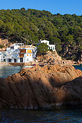 The coastline at Tamariu, Catalonia, Spain