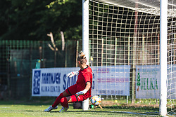 Ekaterina Miklashevich of FC Nike conceding second goal from penalty during football match between ZNK Pomurje and FC Nike in 2nd Round of UWCL qualifying 2019/20, on Avgust 10, 2019 in Sportni Park Beltinci, Beltinci, Slovenia. Photo by Blaž Weindorfer / Sportida