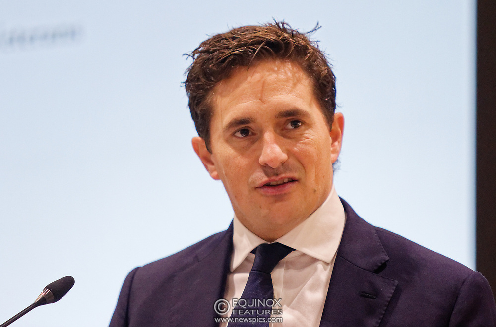 London, United Kingdom - 12 September 2019<br /> Johnny Mercer MP, Parliamentary Under-Secretary of State for Defence People and Veterans for the UK Government gives a keynote address speech and answers questions from the audience at DSEI 2019 security, defence and arms fair at ExCeL London exhibition centre.<br /> (photo by: EQUINOXFEATURES.COM)<br /> Picture Data:<br /> Photographer: Equinox Features<br /> Copyright: ©2019 Equinox Licensing Ltd. +443700 780000<br /> Contact: Equinox Features<br /> Date Taken: 20190912<br /> Time Taken: 10073349<br /> www.newspics.com