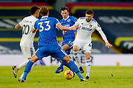 Leeds United midfielder Mateusz Klich (43) and Brighton and Hove Albion midfielder Pascal Gross (13) in action during the Premier League match between Leeds United and Brighton and Hove Albion at Elland Road, Leeds, England on 16 January 2021.