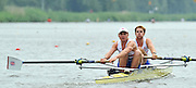 Amsterdam, NETHERLANDSS, GBR BM2-. Bow. George NASH and Constantine LOULOUDIS.  2011 FISA U23 World Rowing Championships, {dow], {date} [Mandatory credit:  Intersport Images]. , Bosbaan is a rowing lake, course, Amsterdamse Bos Amsterdam Forest, Amstelveen, Netherlands., Amstelveen,