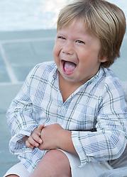 very happy little boy