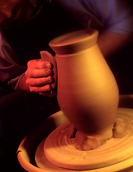 Hands form forming preparing molding clay for pot art artwork potter craftsman works clay..pottery forming.. CONCEPT STOCK PHOTOS