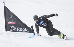 Kharuk Mykhailo during the FIS snowboarding world cup race in Rogla (SI / SLO) | GS on January 20, 2018, in Jasna Ski slope, Rogla, Slovenia. Photo by Urban Meglic / Sportida