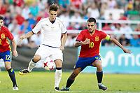 Spain's Dani Ceballos (r) and Italy's Chiesa during international sub 21 friendly match. September 1,2017.(ALTERPHOTOS/Acero)