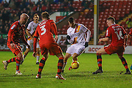 Bradford City midfielder, on loan from Newcastle United, Haris Vuckic (19) gets free in the box during the EFL Sky Bet League 1 match between Walsall and Bradford City at the Banks's Stadium, Walsall, England on 17 December 2016. Photo by Simon Davies.