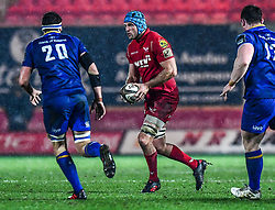 Scarlets' Tadhg Beirne in action <br /> <br /> Photographer Craig Thomas/Replay Images<br /> <br /> Guinness PRO14 Round 17 - Scarlets v Leinster - Friday 9th March 2018 - Parc Y Scarlets - Llanelli<br /> <br /> World Copyright © Replay Images . All rights reserved. info@replayimages.co.uk - http://replayimages.co.uk