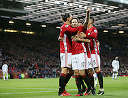 Manchester United's Daley Blind celebrates scoring his sides opening goal during the Premier League match at Old Trafford Stadium, London. Picture date December 26th, 2016 Pic David Klein/Sportimage