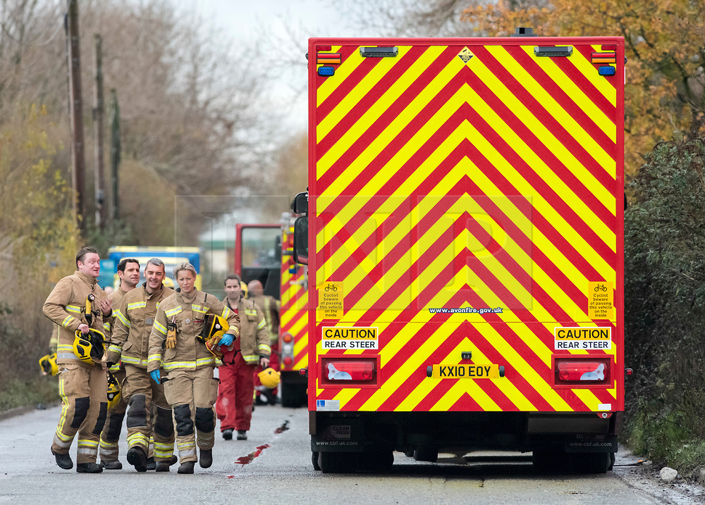 © Licensed to London News Pictures; 03/12/2020; Bristol, UK. Explosion in Avonmouth. Emergency services can be seen at the site of an explosion at Kings Weston Lane. There are reports of multiple casualties. Photo credit: Simon Chapman/LNP.
