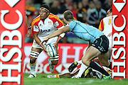 Michael Kainga. Waratahs v Chiefs. 2013 Investec Super Rugby Season. Allianz Stadium, Sydney. Friday 19 April 2013. Photo: Clay Cross / photosport.co.nz