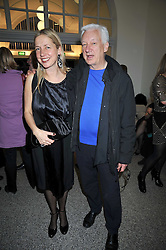 MICHAEL CRAIG-MARTIN and IWONA BLAZWICK Director of the Whitechapel Gallery at a party to celebrate the opening of the new Whitechapel Gallery, 77-82 Whitechapel High Street, London E1 on 2nd April 2009.
