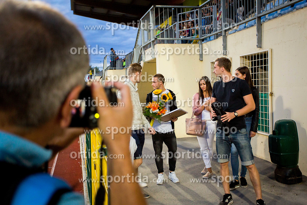 Jan Repas of NK Domzale during football match between NK Domžale and NK Aluminij in 6th Round of Prva liga Telekom Slovenije 2017/18, on August 20, 2017 in Sports park Domzale, Domzale. Photo by Ziga Zupan / Sportida