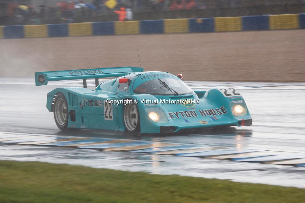 #22 Porsche 962C, Leyton House, Kremer, chassis 962-118, Legends Race, Le Mans, 2012