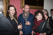 KATE RAWLINSON; SAM BARKER; ELSPETH BARKER, The Literary Review Bad Sex in Fiction Award 2014. The In and Out ( Naval and Military ) Club, 4 St. James's Sq. London SW1. 3 December 2014.