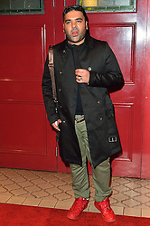 © Licensed to London News Pictures. 08/03/2016. NAUGHTY BOY attends the Motown The Musical press night. Motown hits featured in the production include Dancing In The Street, I Heard It Through The Grapevine and My Girl. London, UK. Photo credit: Ray Tang/LNP
