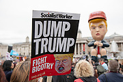 Giant Donald Trump effigy, sitting on a golden toilet during protests against the state visit of US President Donald Trump on 4th June 2019 in London, United Kingdom. Organisers Together Against Trump which is a collaboration between the Stop Trump Coalition and Stand Up To Trump, have organised a carnival of resistance, a national demonstration to protest against President Trump's policies and politics during his official UK visit.