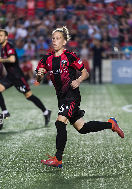 OTTAWA, ON - July 20: USL Championship match between the Ottawa Fury FC and Swoop Park Rangers at TD Place Stadium in Ottawa, ON. Canada on July 20, 2019.<br /> <br /> PHOTO: Steve Kingsman/Freestyle Photography for Ottawa Fury FC