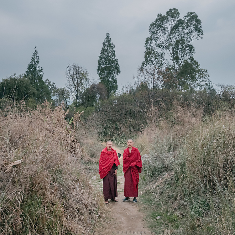 Young monks at the Punakha monastery.