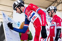 ROGINA  Radoslav (CRO) of Adria Mobil and GOLČER Jure (SLO) of Adria Mobil during the UCI Class 1.2 professional race 4th Grand Prix Izola, on February 26, 2017 in Izola / Isola, Slovenia. Photo by Vid Ponikvar / Sportida