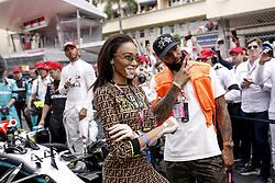 May 26, 2019 - Monte Carlo, Monaco - Motorsports: FIA Formula One World Championship 2019, Grand Prix of Monaco, ..Winnie Harlow, Odell Beckham jr. (Credit Image: © Hoch Zwei via ZUMA Wire)