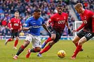 Alfredo Morelos during the Ladbrokes Scottish Premiership match between Rangers and Kilmarnock at Ibrox, Glasgow, Scotland on 16 March 2019.