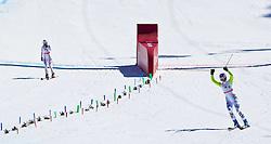 20.03.2011, Pista Silvano Beltrametti, Lenzerheide, SUI, FIS Ski Worldcup, Finale, Lenzerheide, NATIONEN TEAM EVENT, im Bild Taina Barioz (FRA), Maria Riesch (GER) jubelt während des Nationen Team Event im Zielraum auf der Lenzerheide. //  Taina Barioz (FRA), Maria Riesch (GER) celebrate during Nations Team Event, at Pista Silvano Beltrametti, in Lenzerheide, Switzerland, 20/03/2011, EXPA Pictures © 2011, PhotoCredit: EXPA/ J. Feichter