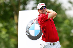 26.06.2015, Golfclub München Eichenried, Muenchen, GER, BMW International Golf Open, Tag 2, im Bild Bernd Wiesberger (AUT) am Abschlag, Tee // during day two of the BMW International Golf Open at the Golfclub München Eichenried in Muenchen, Germany on 2015/06/26. EXPA Pictures © 2015, PhotoCredit: EXPA/ Eibner-Pressefoto/ Kolbert<br /> <br /> *****ATTENTION - OUT of GER*****