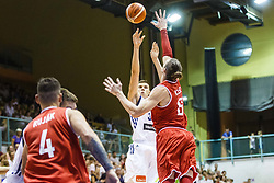 Vladko Cancar of Slovenia during friendly basketball match between National teams of Slovenia and Hungary on day 1 of Adecco Cup 2017, on August 4th in Arena Tabor, Maribor, Slovenia. Photo by Grega Valancic/ Sportida