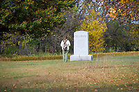 Deleware Memorial, Antietam National Battlefield, Sharpsburg, Maryland, USA.
