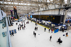 © Licensed to London News Pictures. 31/12/2017. London, UK. London Waterloo Station. Thousands of passengers travelling to celebrations on New Year's Eve are expected to face delays and cancellations because of a 24-hour walkout.  Photo credit: Rob Pinney/LNP