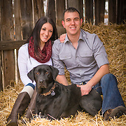 Kaylea and Davis at 17 mile horse farm park on a cold winters day..