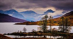 Storm clouds gather over mountains at the head of Loch Arklet, Loch Lomond & The Trossachs National Park, Scotland<br /> <br /> (c) Andrew Wilson | Edinburgh Elite media