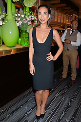 MYLEENE KLASS at a party to celebrate the 21st anniversary of The Roar Group hosted by Jonathan Shalit held at Avenue, 9 St.James's Street, London on 21st September 2015.