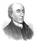 James Hutton (1726-1797) Scottish-born geologist who published his expanded long time scale theory of geology in 1795. Uniformitarianism. Engraving after portrait by Raeburn.