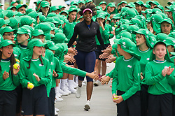 Jan. 10, 2017  - Melbourne, Australia - VENUS WILLIAMS of the United States joins more than 380 Australian Open ball kids for a photoshoot session ahead of Australian Open 2017 at Melbourne Park in Melbourne, Australia. Australian Open 2017 will take place at Melbourne Park from Jan. 16 to Jan. 29.  Authorized by ytfs* (Credit Image: © Xinhua via ZUMA Wire)