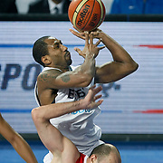 Efes Pilsen's Bootsy THORNTON (B) during their Turkish Basketball league match Efes Pilsen between Tofas at the Sinan Erdem Arena in Istanbul Turkey on Sunday 27 February 2011. Photo by TURKPIX