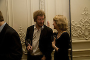 SEBASTIAN FAULKS, Vanity Fair, Baroness Helena Kennedy QC and Henry Porter launch ' The Convention on Modern Liberty'. The Foreign Press Association. Carlton House Terrace. London. 15 January 2009 *** Local Caption *** -DO NOT ARCHIVE-© Copyright Photograph by Dafydd Jones. 248 Clapham Rd. London SW9 0PZ. Tel 0207 820 0771. www.dafjones.com.<br /> SEBASTIAN FAULKS, Vanity Fair, Baroness Helena Kennedy QC and Henry Porter launch ' The Convention on Modern Liberty'. The Foreign Press Association. Carlton House Terrace. London. 15 January 2009