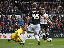 Johnny Russell of Derby County scores his sides fourth goal - Mandatory by-line: Jack Phillips/JMP - 09/04/2016 - FOOTBALL - iPro Stadium - Derby, England - Derby County v Bolton Wanderers - Sky Bet Championship