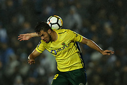 March 11, 2018 - Pacos Ferreira, Pacos Ferreira, Portugal - Pacos Ferreira's forward Luiz Phellype (L) during the Premier League 2017/18 match between Pacos Ferreira and FC Porto, at Mata Real Stadium in Pacos de Ferreira on March 11, 2018. (Credit Image: © Dpi/NurPhoto via ZUMA Press)