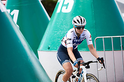 Lotta Lepistö (FIN) weaves through the buoys to sign on at Deakin University Elite Women Cadel Evans Road Race 2019, a 113 km road race starting and finishing in Geelong, Australia on January 26, 2019. Photo by Sean Robinson/velofocus.com