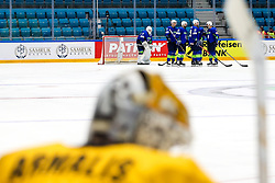 Players of Slovenia and the disappointment of Mantas Armalis of Lithuania during ice hockey match between Slovenia and Lithuania at IIHF World Championship DIV. I Group A Kazakhstan 2019, on May 5, 2019 in Barys Arena, Nur-Sultan, Kazakhstan. Photo by Matic Klansek Velej / Sportida