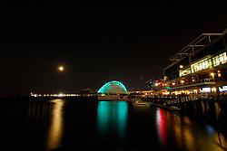 Moon Over Fan Pier, Boston.