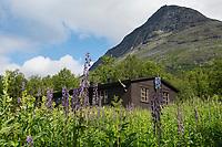 STF Tarrekaise mountain hut along Padjelantaleden Trail, Lapland, Sweden