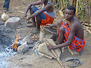 Gidonwoduk The former Datoga blacksmith tribe. Today they are a separate tribe. They do not marry with Datoga since they discovered the secrets of blacksmithing. Photographed in Africa, Tanzania, Lake Eyasi