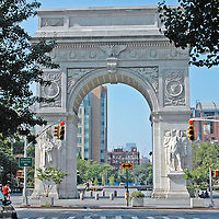 Washington Square Park arch from Fifth Avenue