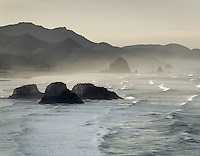 Morning on Cannon Beach from Ecola State Park Oregon USA